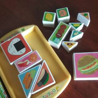 Puzzle food in plate