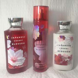 Bath & Body Works Japanese Blossom Set