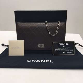 Chanel Lambskin Quilted Reissue WOC Brown