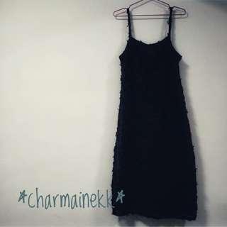 全新 韓國 吊帶 連衣裙 立體 蕾絲花 原價399 特價200