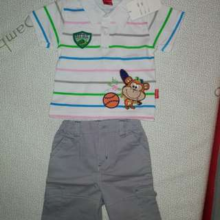18M Boy Set Wear Polo Shirt + Pant