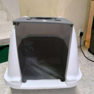hagen catit hooded cat litter box. Cat Litter Box - Hagen Catit Hooded