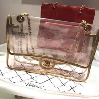 Chanel Vinyl Transparent Flap