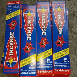 INCENSE INSECT REPELLANT