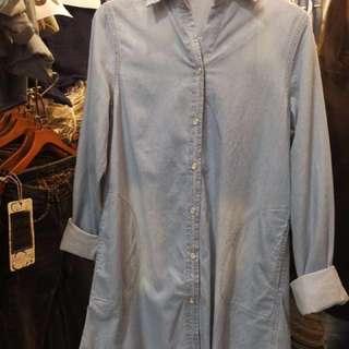 Jean long sleeve top