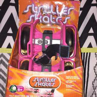 Stroller skates (NEW) Pink
