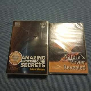 Reader Digest Nature's Power Revealed n Amazing Underground Secrets Natural Wonders Boxes Sets DVD'S 4 Sale.