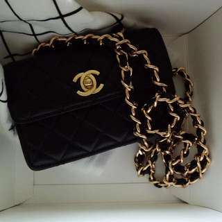 Chanel Vintage Lambskin 14cm Mini Flap