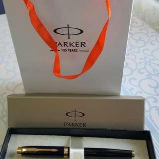 Parker 最新款墨水筆lM純黑麗金夾鋼筆