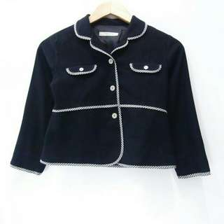 Size S / 130 Black Teenage Kids Blazer Semi Formal Outer Luaran Outwear