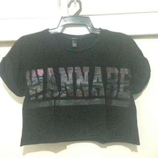 Black 'wannabe' croptop