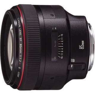 Canon 85mm F1.2 Mark ii L lens