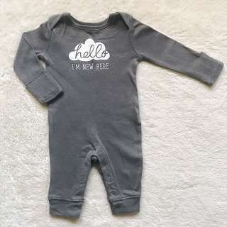 CARTER'S Hello I'm New Here Jumpsuit