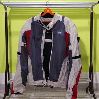 REV'IT! Air Jacket Light Grey & Red Size M (Original)