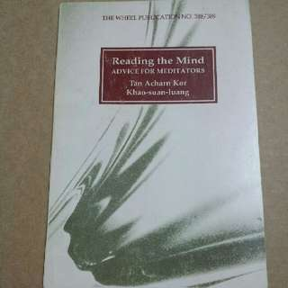 """Book (Reference, Meditation, Religion): """"Reading the Mind Advice for Meditators"""" By Tan Acharn Kor/ Khao-Suan- Luang"""