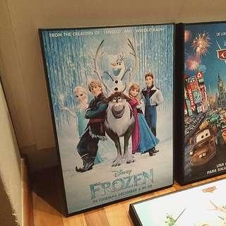 Cartoon Wooden Frame Poster