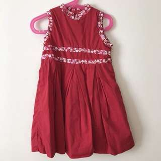 Chateau De Sable Red Dress
