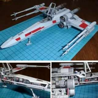 X-Wing Paper Model 1/60 Scale