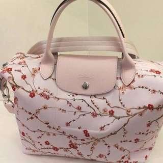 Longchamp Le Pliage Neo Fantaisie White Sakura