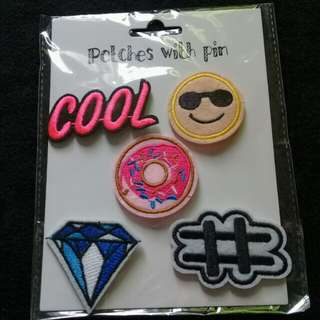Patches with pin