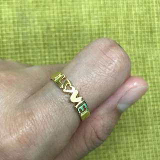 14 karat Love ring 2.3 grams