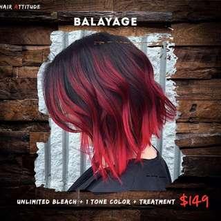Balayae color, Treatment