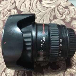 Canon 17-40mm lens