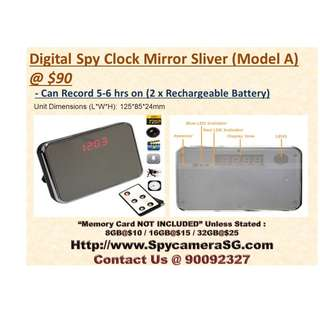 Spy Camera Clock Mirror