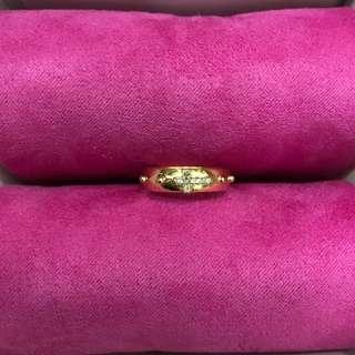 3.3 grams rosary ring 14 karat yellow gold