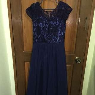 Elegant Lace Long Gown
