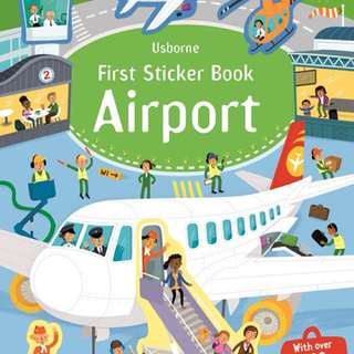 [FREE MAIL]BN Usborne Airport sticker book
