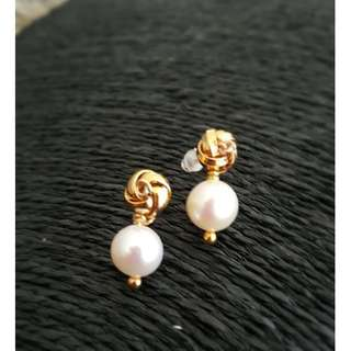 HANDMADE! Genuine Pearl Earrings 20089