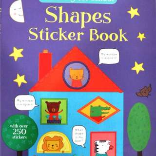 [FREE MAIL]BN Usborne Shapes sticker book