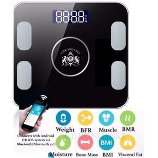9 in One Smart Bluetooth Fat Analyser BMI Weighing Body Scale Android iOS Technology