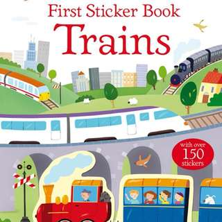 [FREE MAIL]BN Usborne Trains sticker book