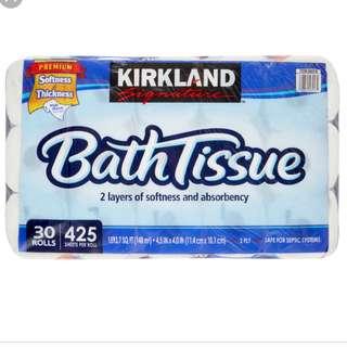 Kirkland Signature Toilet Paper, 30 Rolls