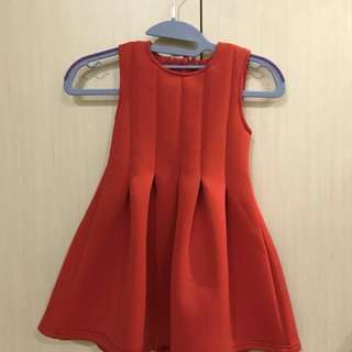 Free girl's red dress with any purchase