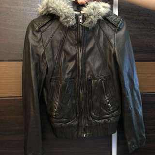 Salad Female real Leather Jacket size xs (90% new)