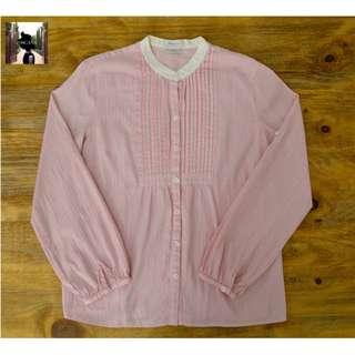 Van Heusen Striped Blouse (Light Pink)