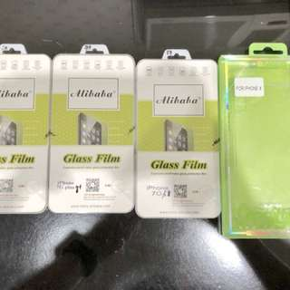 Tempered Glass Screen Protector and Clear case