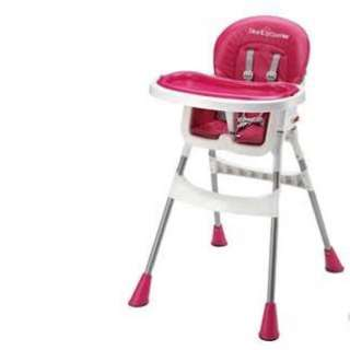 high chair - fushcia pink
