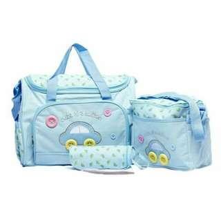 Baby cute diaper bag 4 n 1 set baby bag