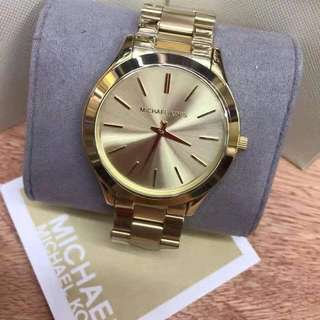 Michael Kors - Slim Runway Gold-Tone Stainless Steel Watch