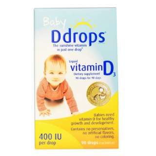 Baby Ddrops Liquid Vitamin D3, 400IU (2.5ml) - Brand recommended by my PD