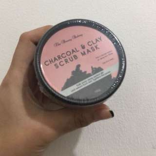 BACK IN STOCK!! Charcoal+clay scrub mask