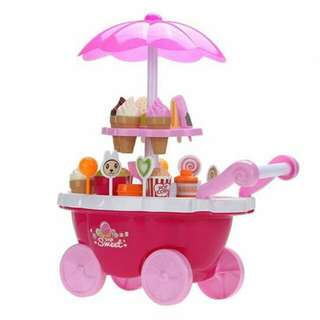 Sweet candy ice cream cart