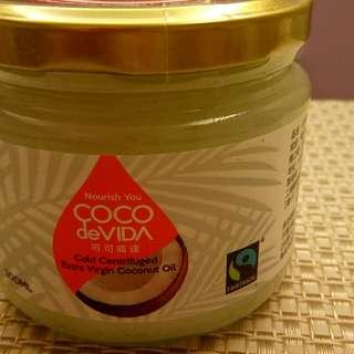 可可威達公平貿易天然冷離心初榨椰子油 300ML_伴手禮_抹醬