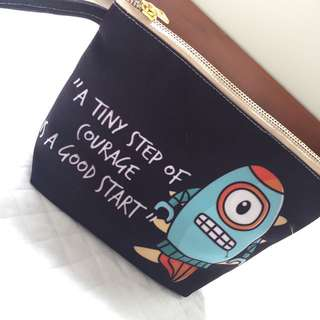 Personalised canvas pouch / Rocket