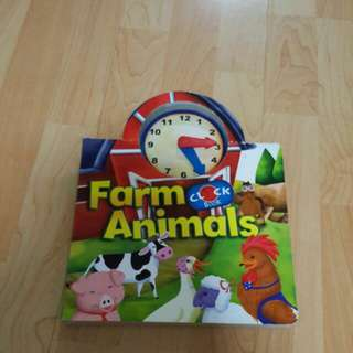 Farm Animal Clock Book (Board book)
