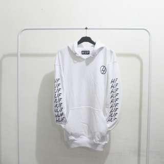 Jaket Sweater HUF Shocker White Hoodie